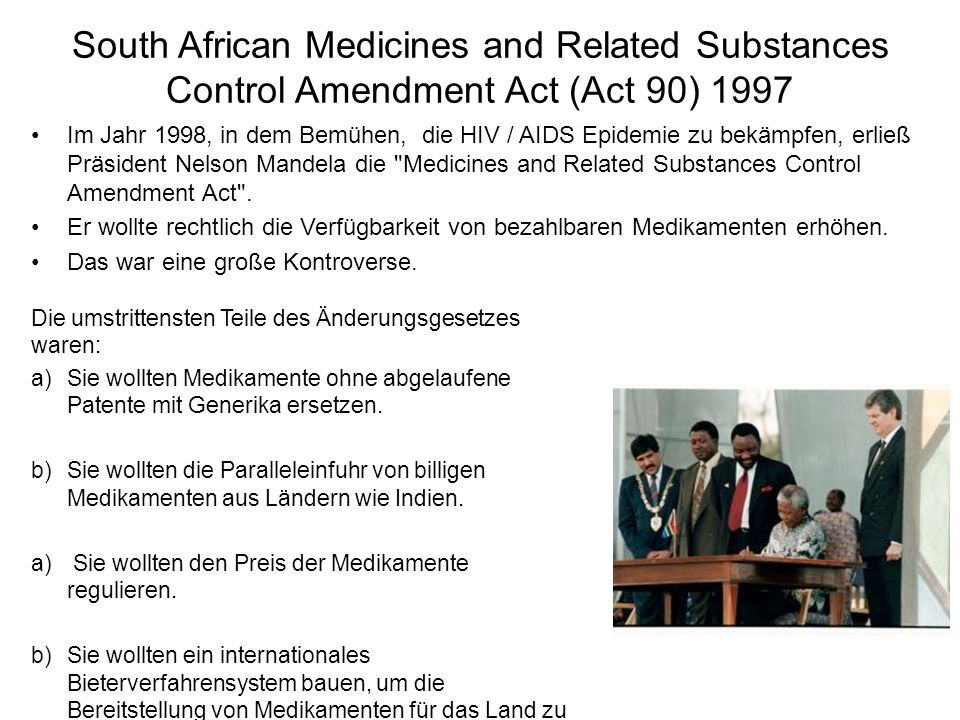 South African Medicines and Related Substances Control Amendment Act (Act 90) 1997