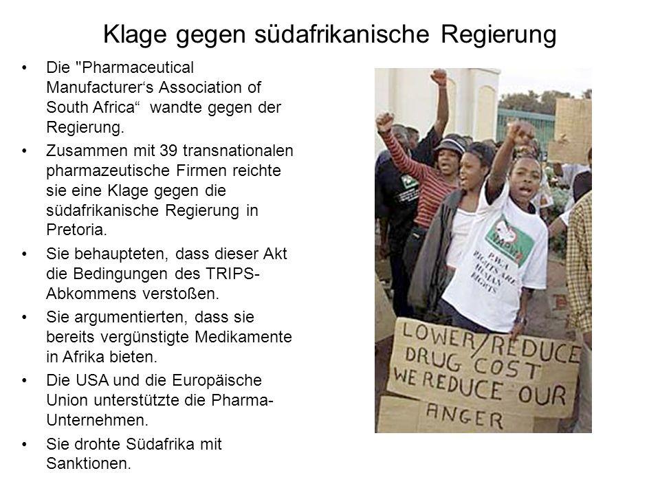 Klage gegen südafrikanische Regierung