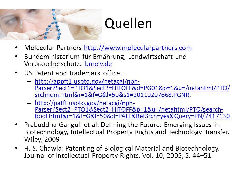 Quellen Molecular Partners http://www.molecularpartners.com