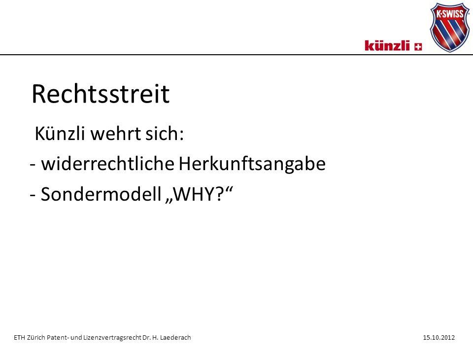 """Künzli wehrt sich: widerrechtliche Herkunftsangabe Sondermodell """"WHY"""
