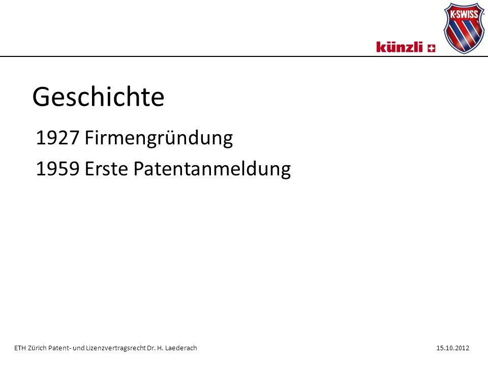 1927 Firmengründung 1959 Erste Patentanmeldung