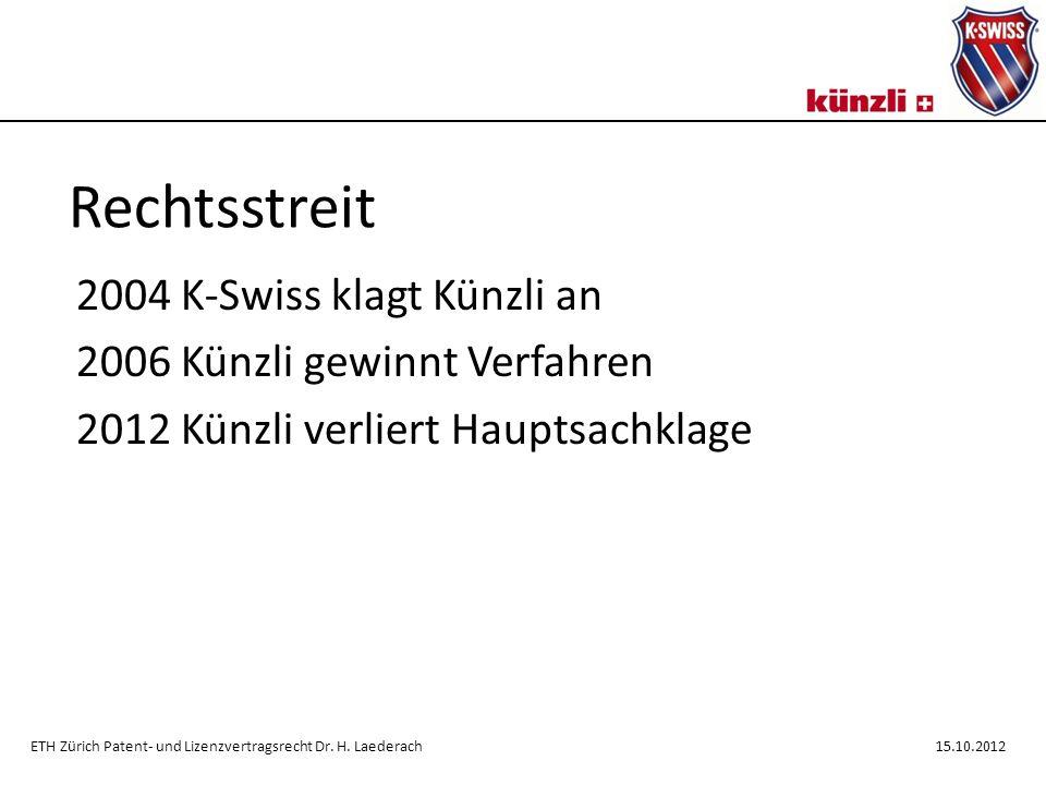 Rechtsstreit 2004 K-Swiss klagt Künzli an