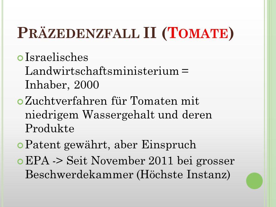 Präzedenzfall II (Tomate)