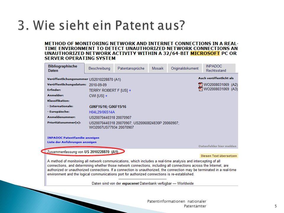 3. Wie sieht ein Patent aus