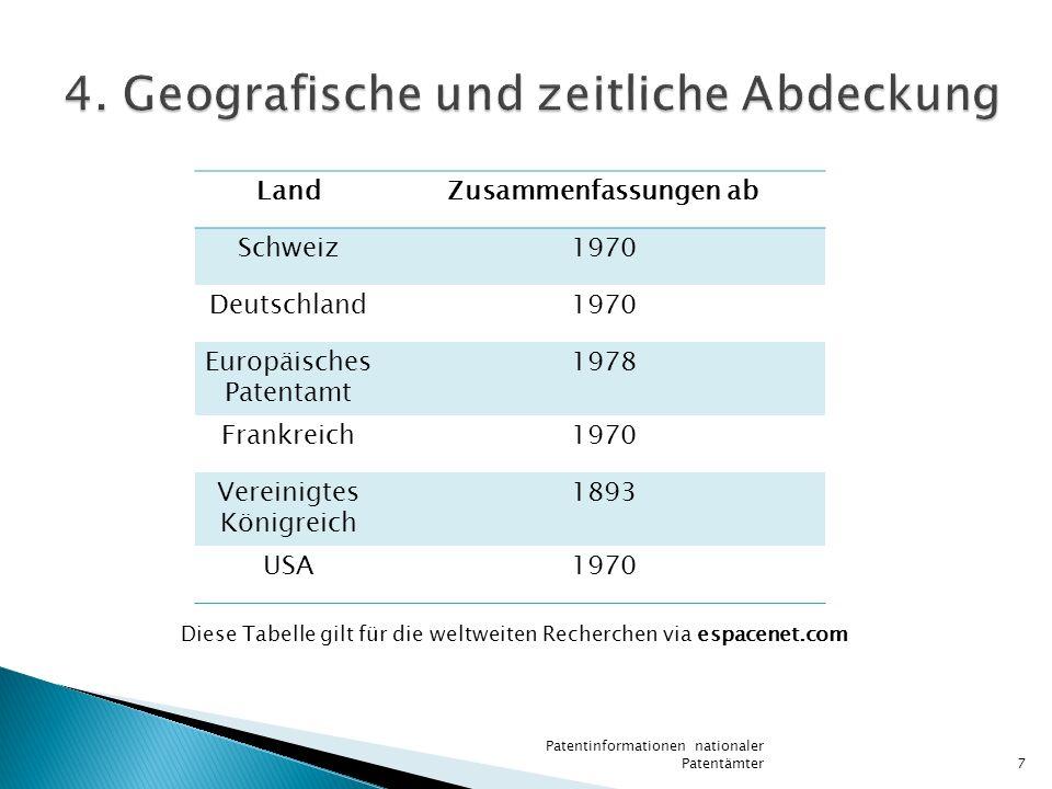 4. Geografische und zeitliche Abdeckung
