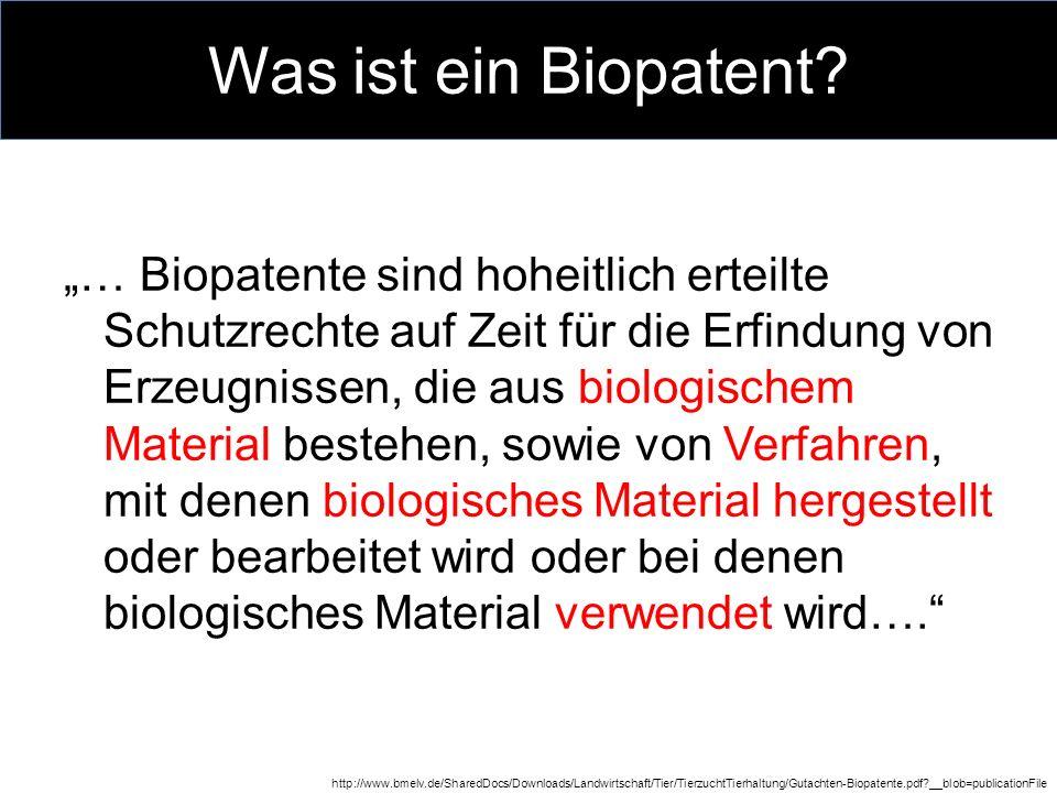 Was ist ein Biopatent