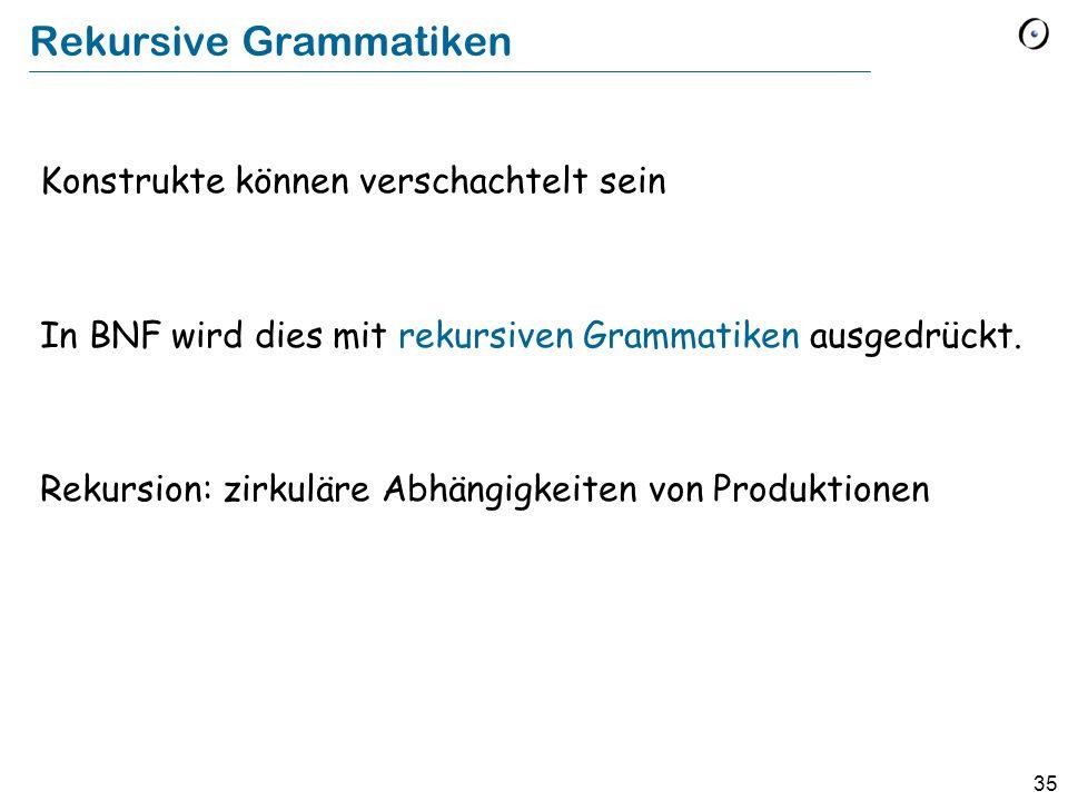 Rekursive Grammatiken
