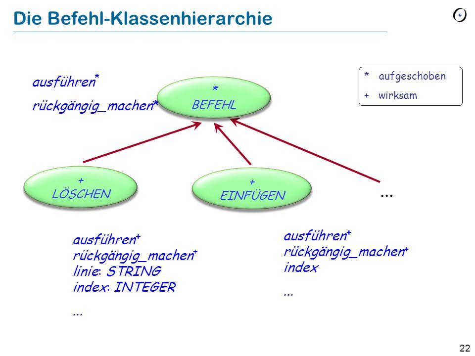 Die Befehl-Klassenhierarchie