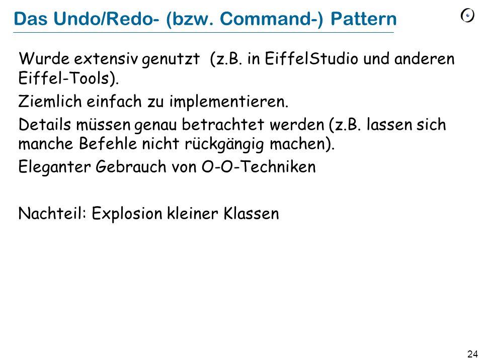 Das Undo/Redo- (bzw. Command-) Pattern