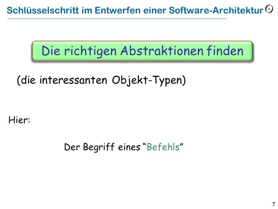 Schlüsselschritt im Entwerfen einer Software-Architektur