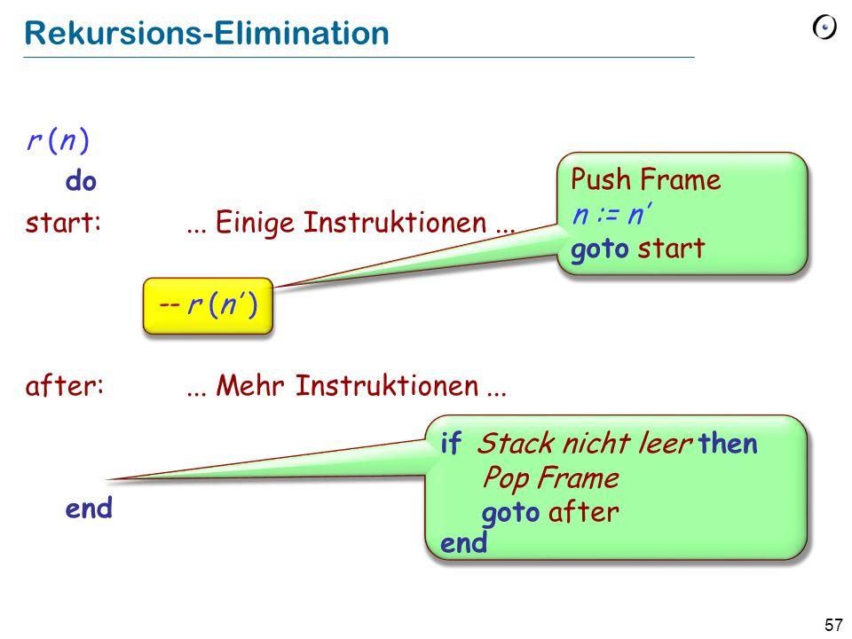 Rekursions-Elimination