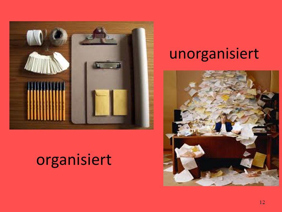 unorganisiert organisiert