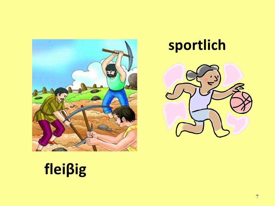 sportlich fleiβig