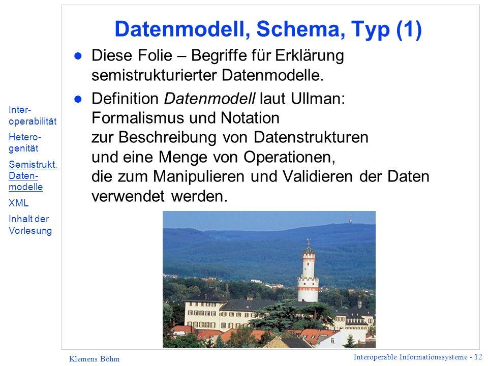 Datenmodell, Schema, Typ (1)