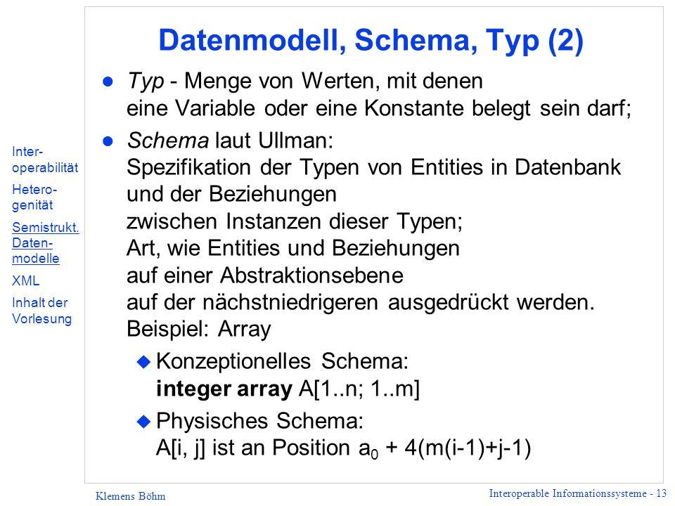 Datenmodell, Schema, Typ (2)