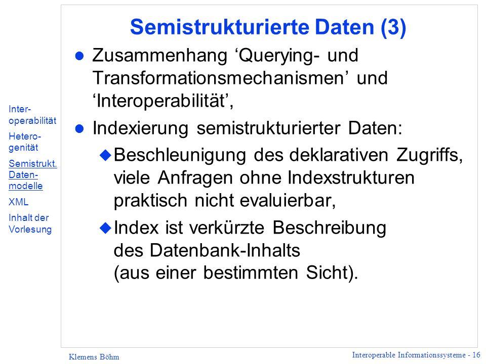 Semistrukturierte Daten (3)