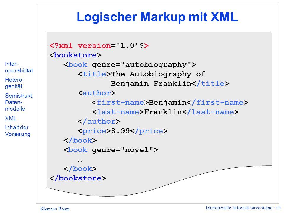 Logischer Markup mit XML