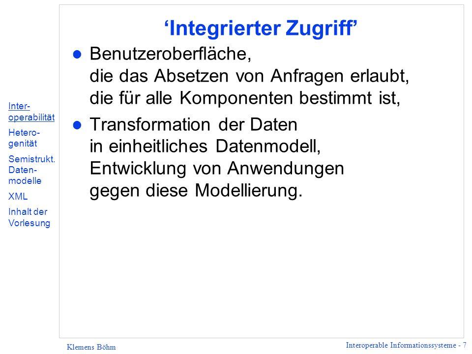'Integrierter Zugriff'