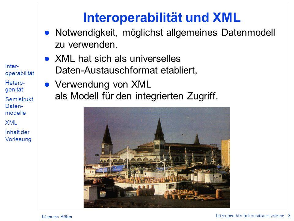 Interoperabilität und XML