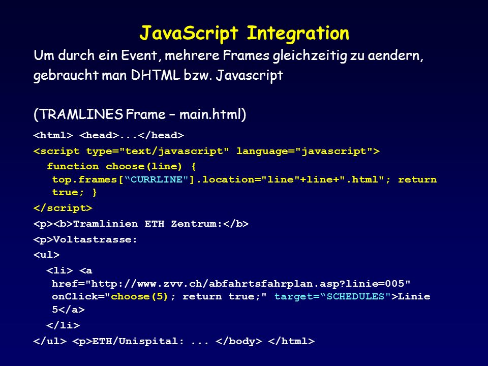 JavaScript Integration