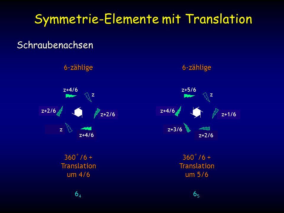 Symmetrie-Elemente mit Translation