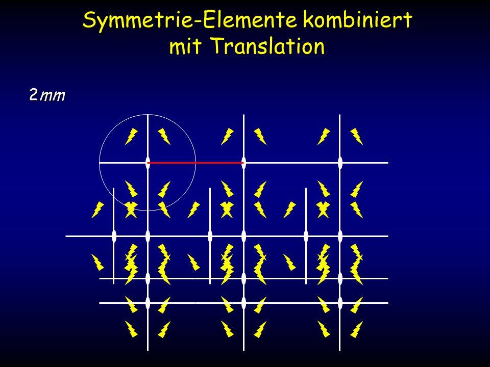 Symmetrie-Elemente kombiniert mit Translation