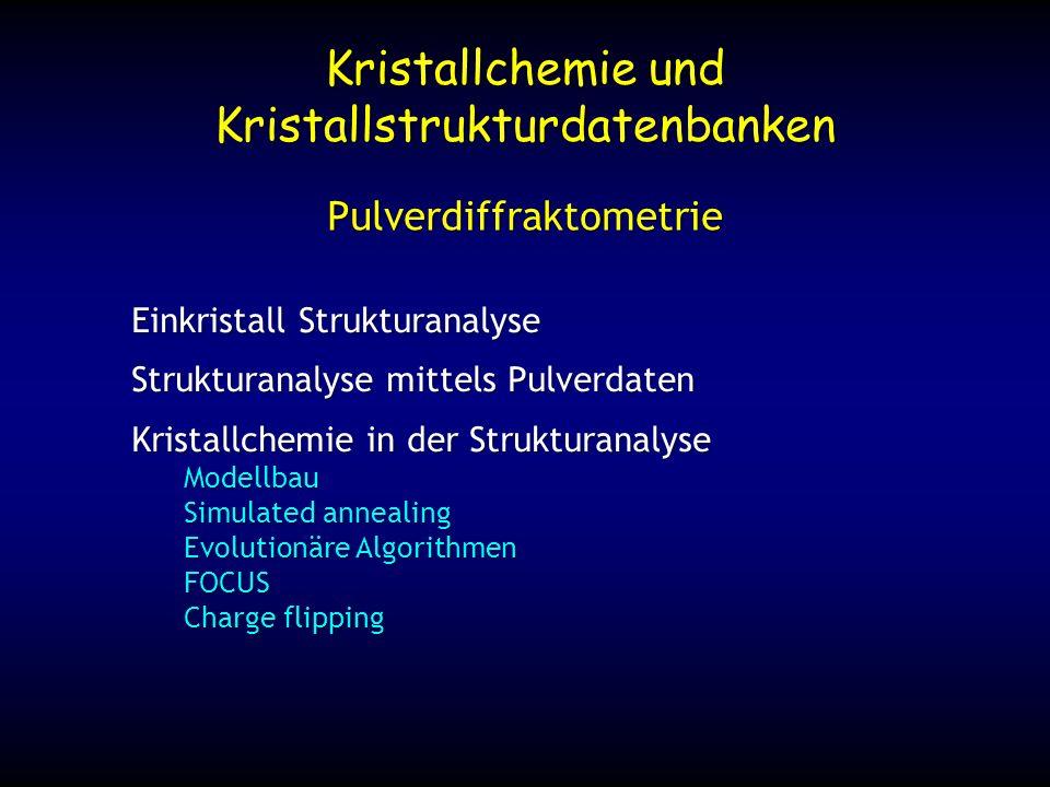 Kristallchemie und Kristallstrukturdatenbanken