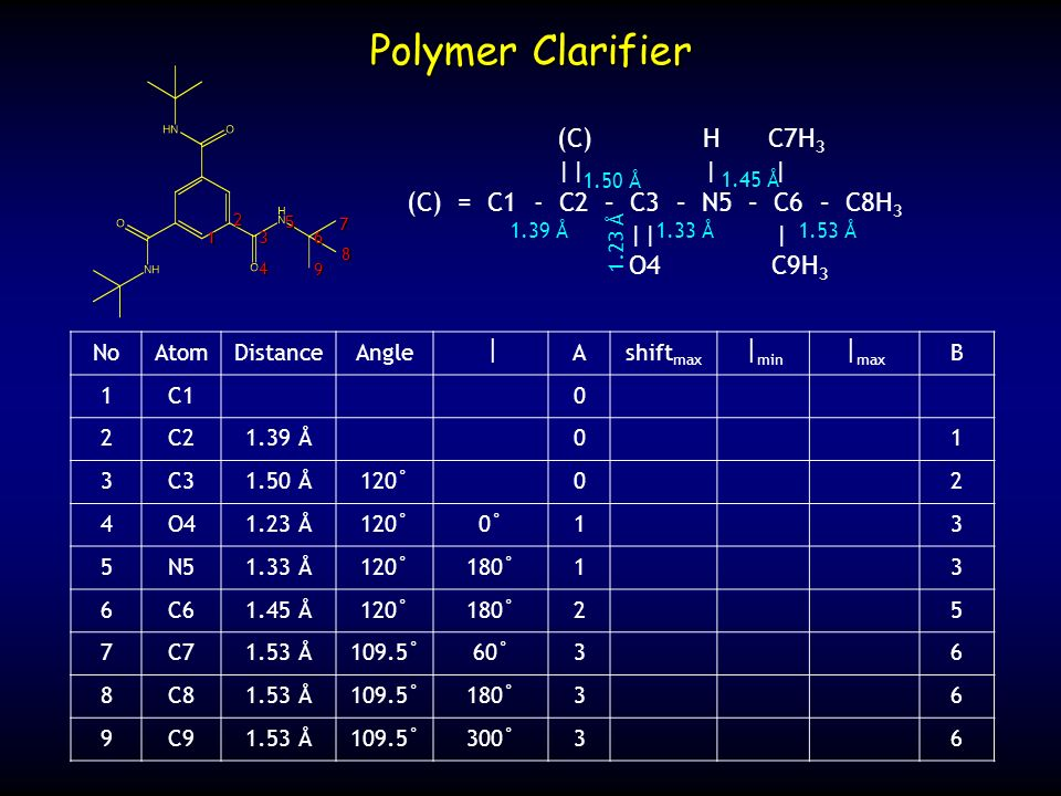 Polymer Clarifier (C) H C7H3 || | |