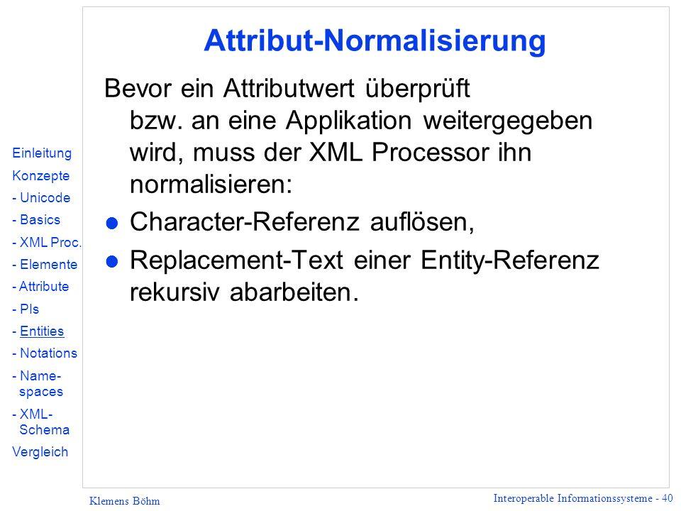 Attribut-Normalisierung