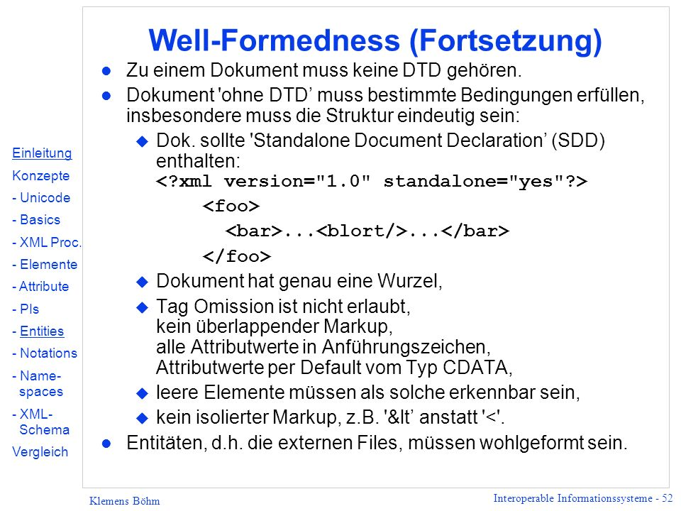 Well-Formedness (Fortsetzung)