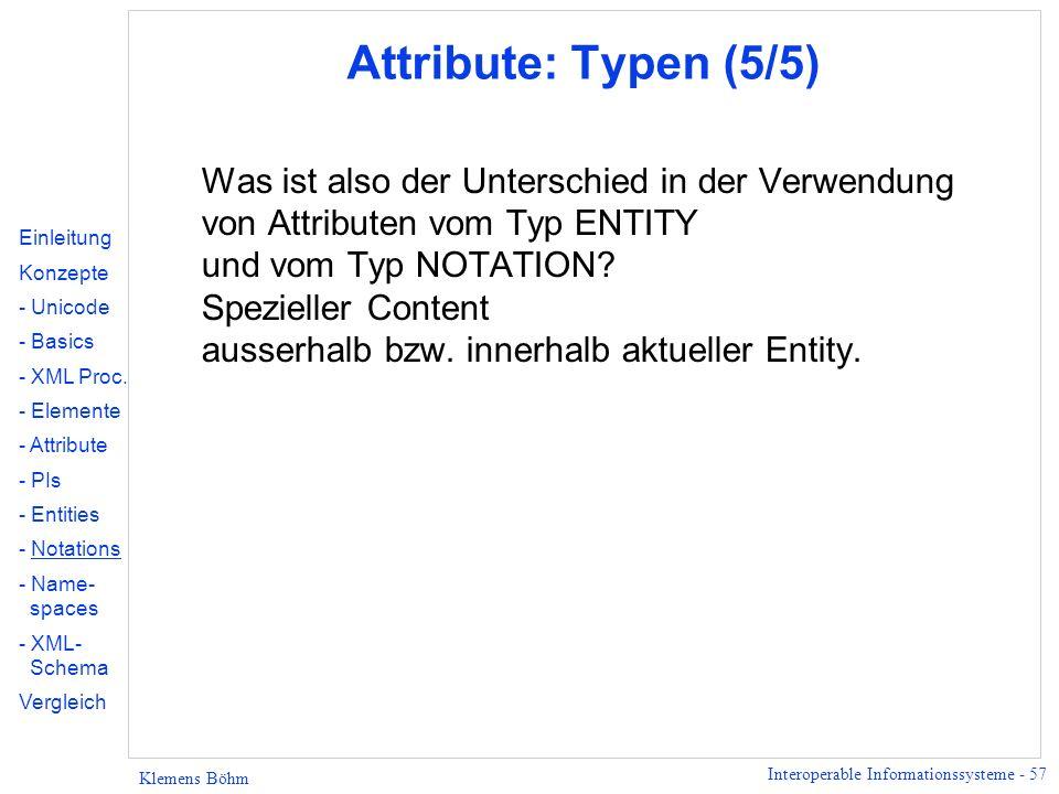 Attribute: Typen (5/5)