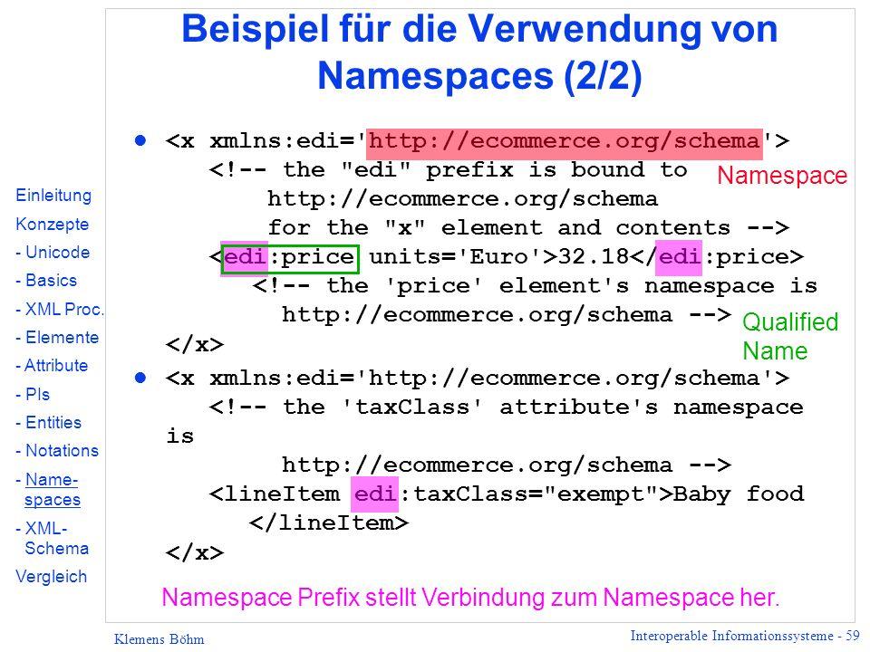 Beispiel für die Verwendung von Namespaces (2/2)