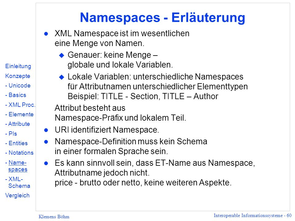 Namespaces - Erläuterung