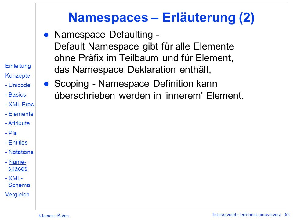 Namespaces – Erläuterung (2)