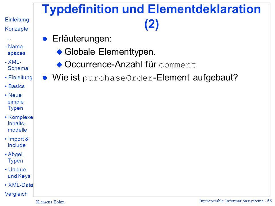 Typdefinition und Elementdeklaration (2)