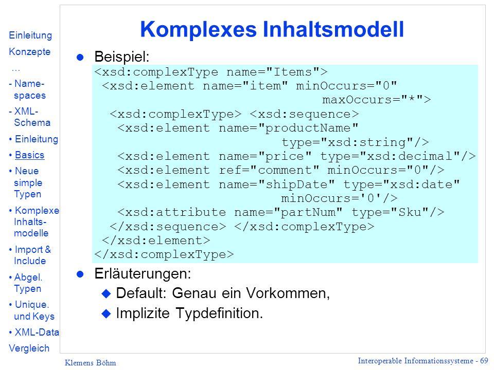 Komplexes Inhaltsmodell