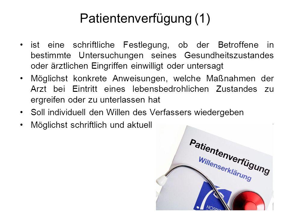 Patientenverfügung (1)