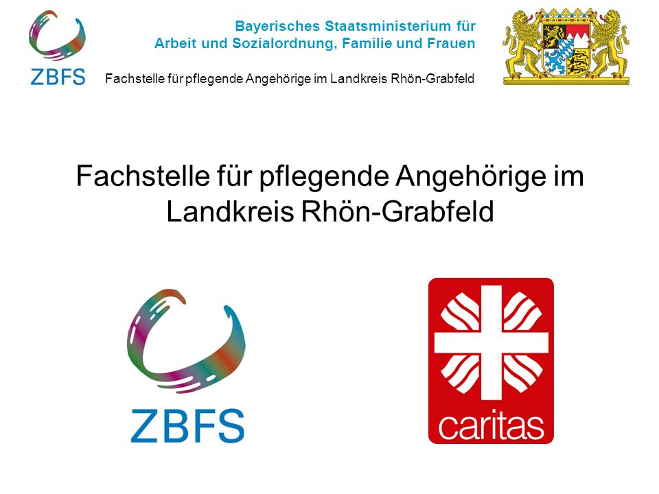 Fachstelle für pflegende Angehörige im Landkreis Rhön-Grabfeld