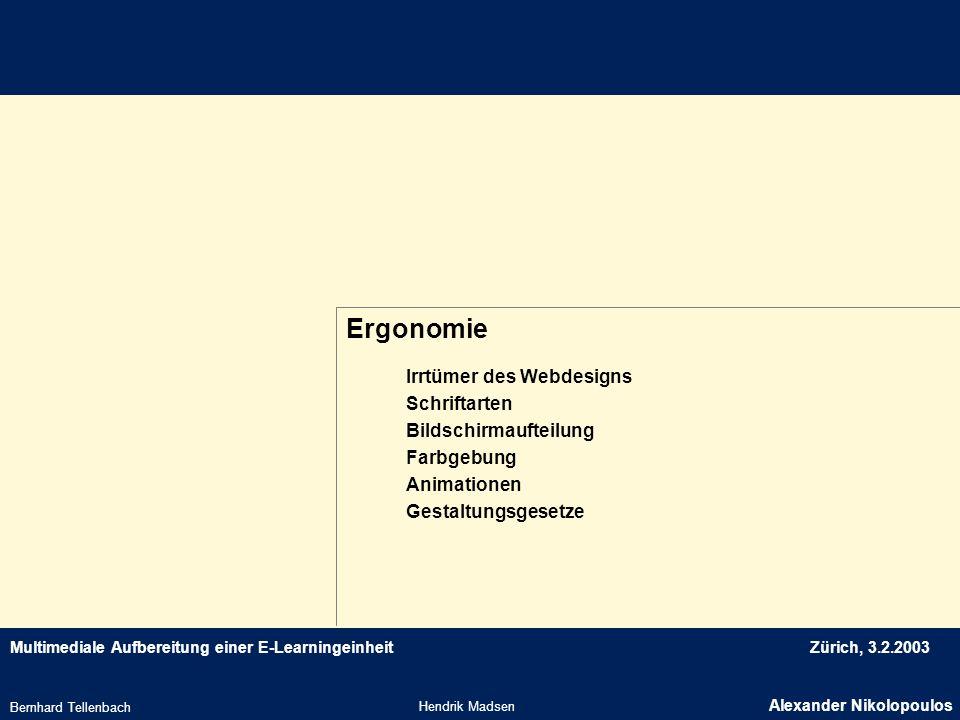 Ergonomie Irrtümer des Webdesigns Schriftarten Bildschirmaufteilung