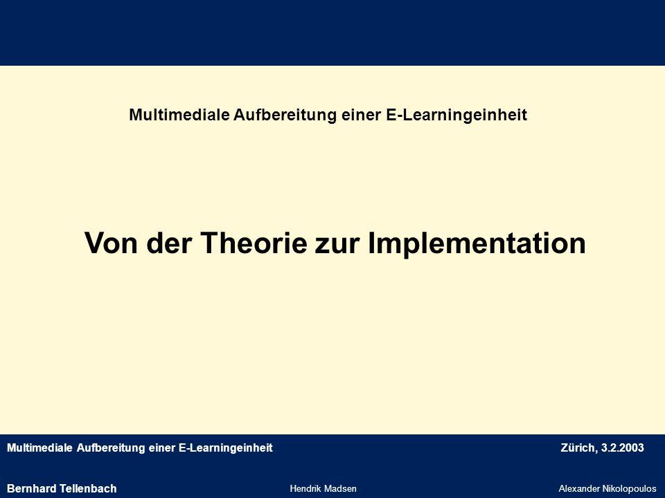 Von der Theorie zur Implementation
