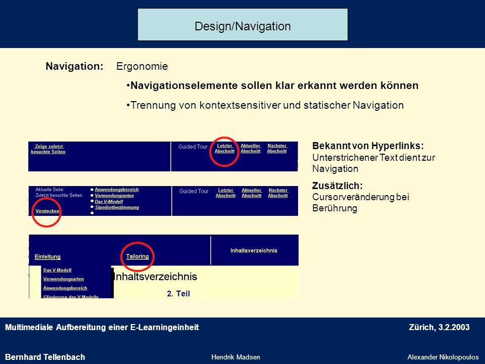 Design/Navigation Navigation: Ergonomie
