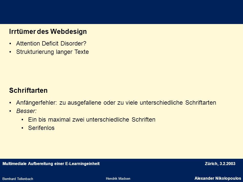 Irrtümer des Webdesign