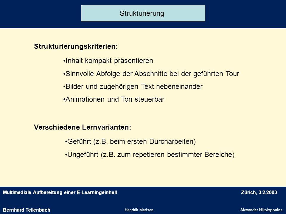 Strukturierungskriterien: