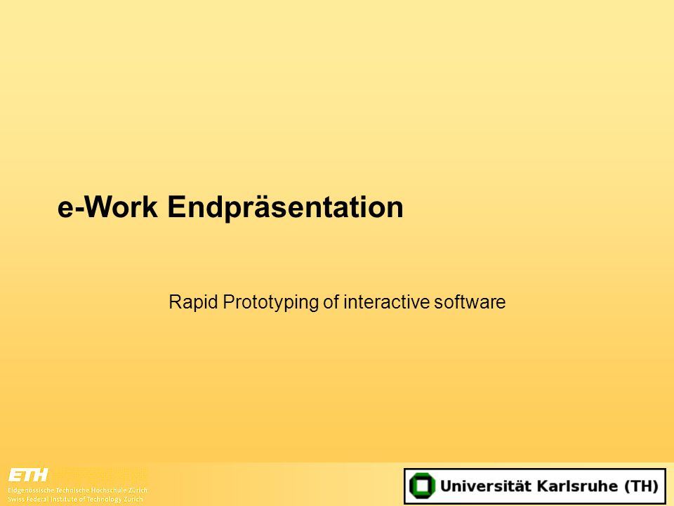 e-Work Endpräsentation