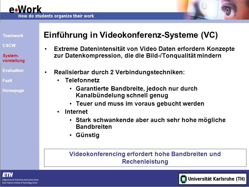 Einführung in Videokonferenz-Systeme (VC)