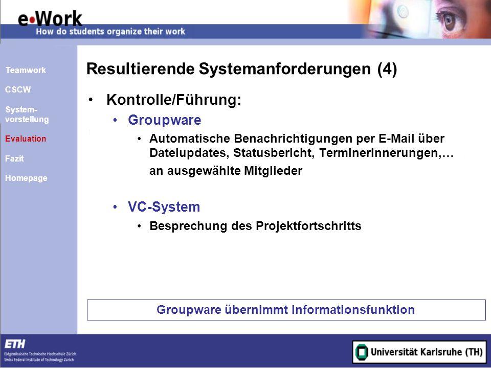 Resultierende Systemanforderungen (4)