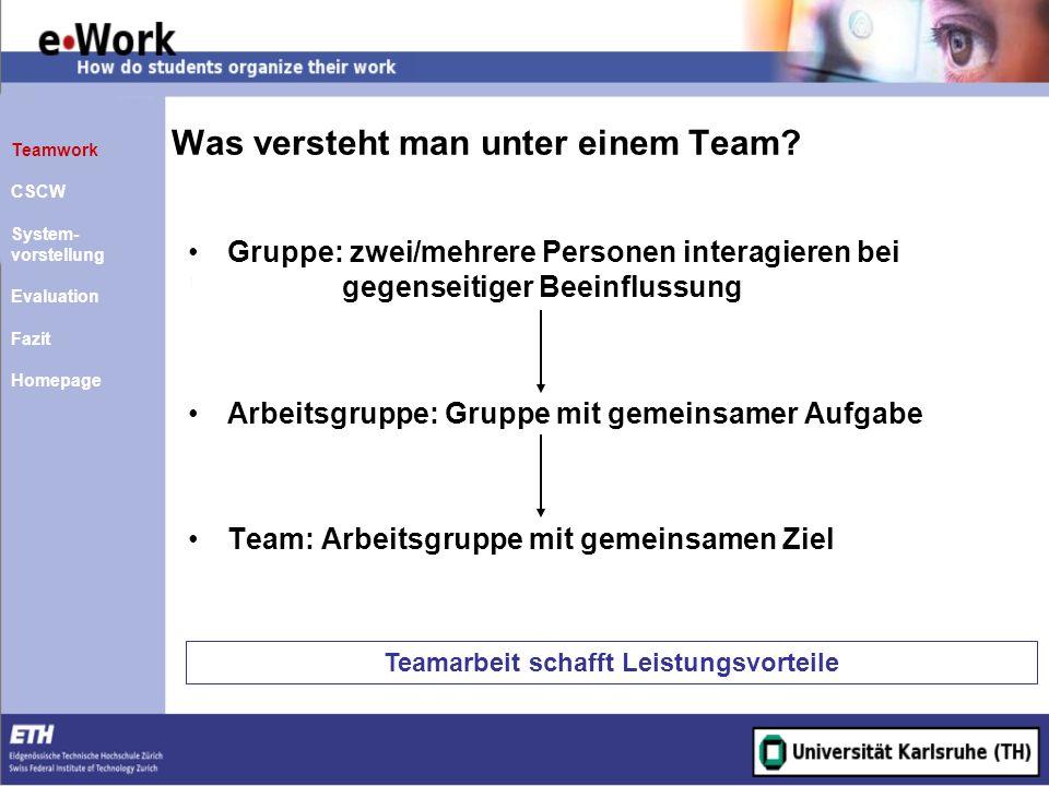 Was versteht man unter einem Team
