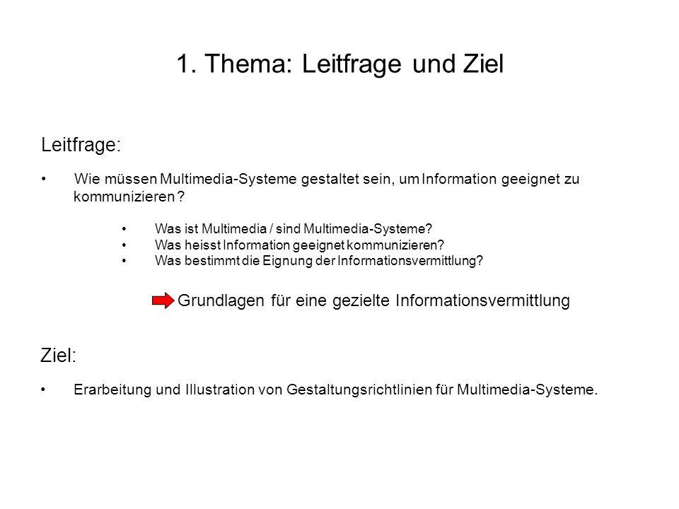 1. Thema: Leitfrage und Ziel