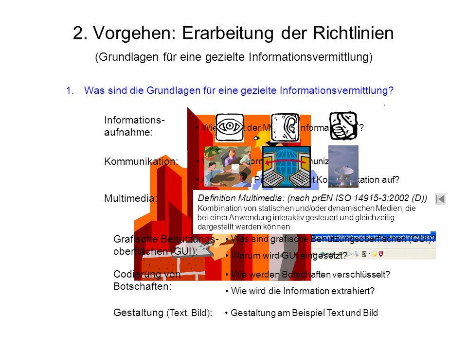 Was sind die Grundlagen für eine gezielte Informationsvermittlung