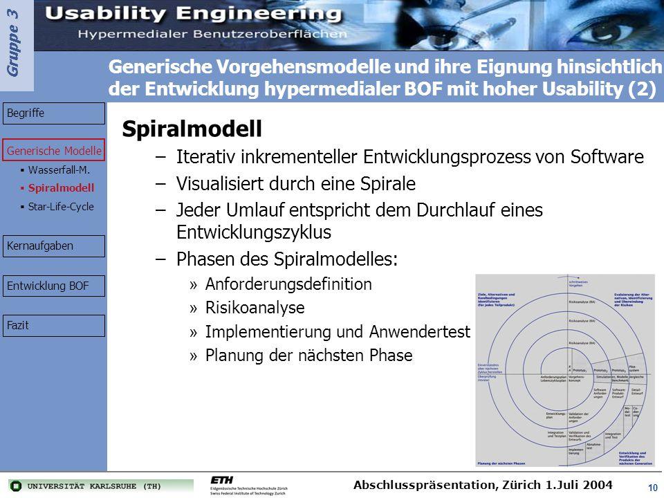 Generische Vorgehensmodelle und ihre Eignung hinsichtlich der Entwicklung hypermedialer BOF mit hoher Usability (2)